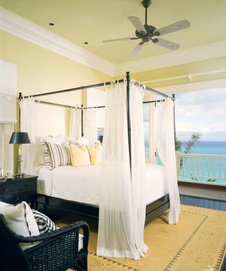 Island style bedroom photo in Tampa