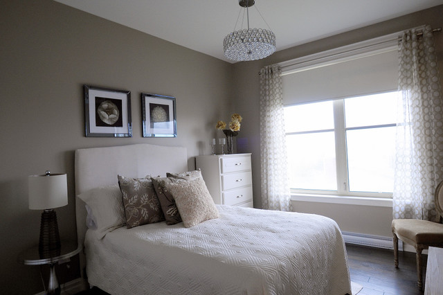 Monochromatic guest room contemporary bedroom for Monochromatic bedroom designs
