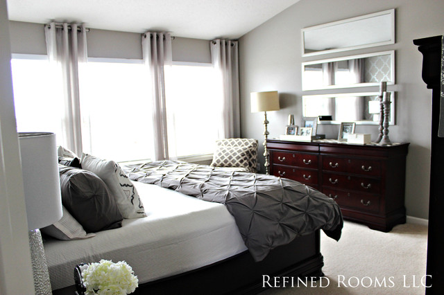 Monochromatic master bedroom redesign for Monochromatic bedroom designs