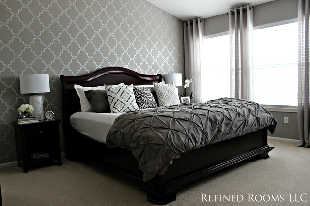 Monochromatic Master Bedroom traditional-bedroom