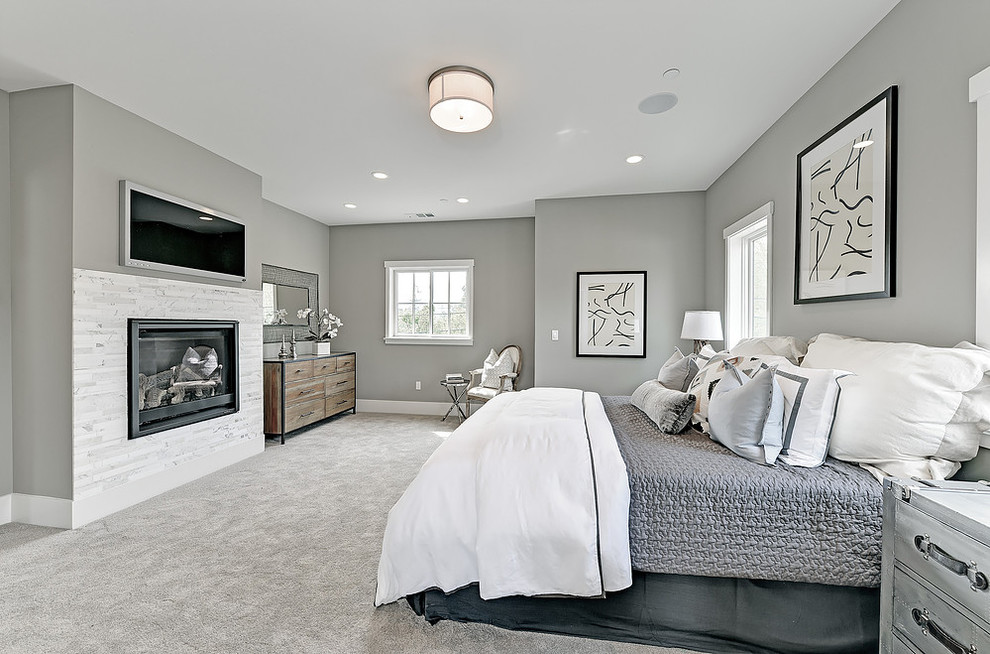 Monte Sereno Transitional New Home Build Transitional Bedroom San Francisco By Charisma Design
