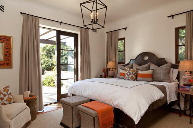 Montecito Andalusian Mediterranean Bedroom Santa