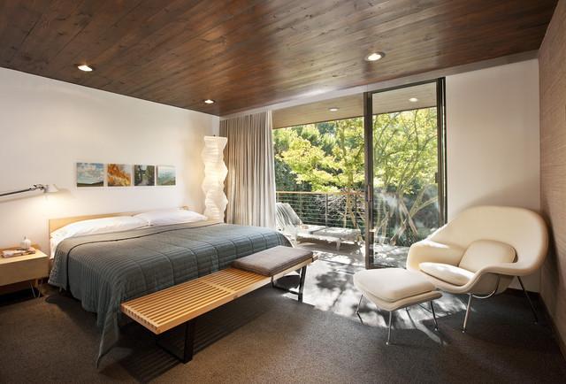 Montecito Midcentury Master Bedroom Mid Century Schlafzimmer Santa Barbara Von Allen Construction Houzz