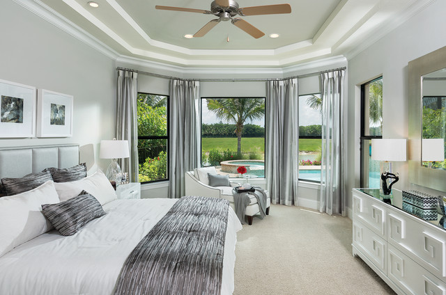 Montecito Model Home Interior Decoration   1269 Contemporary Bedroom