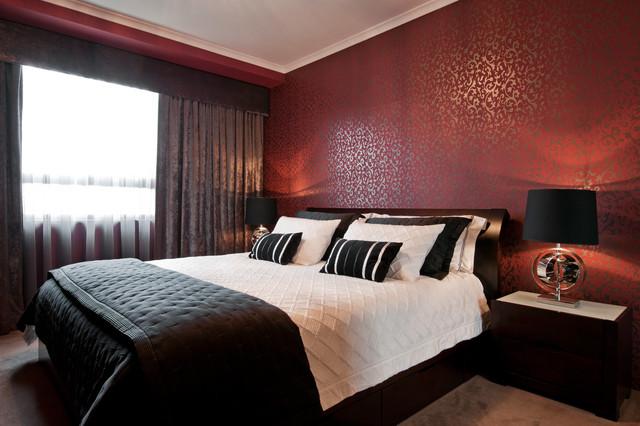 Moody Room Makeover Contemporary Bedroom