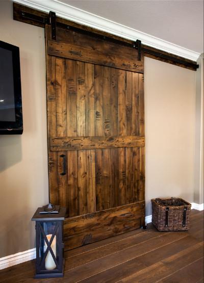 Moorpark Master Bedroom Sliding Barn Door Transitional