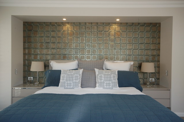 Moroccan Mystique Feature Wall Contemporary Bedroom