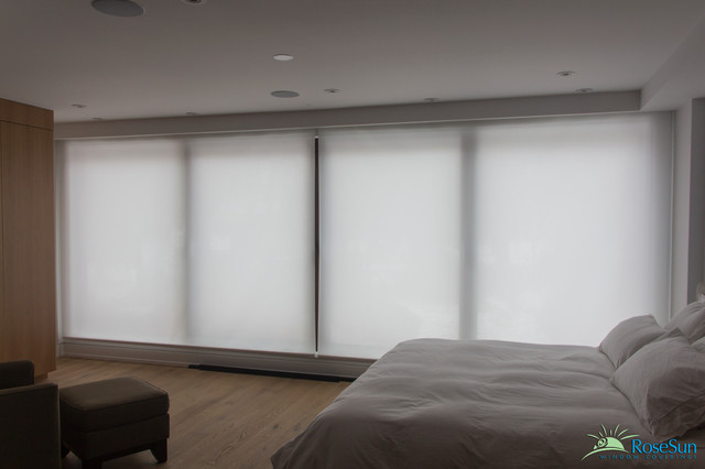 Etonnant Motorized Blinds In The Bedroom Modern Bedroom