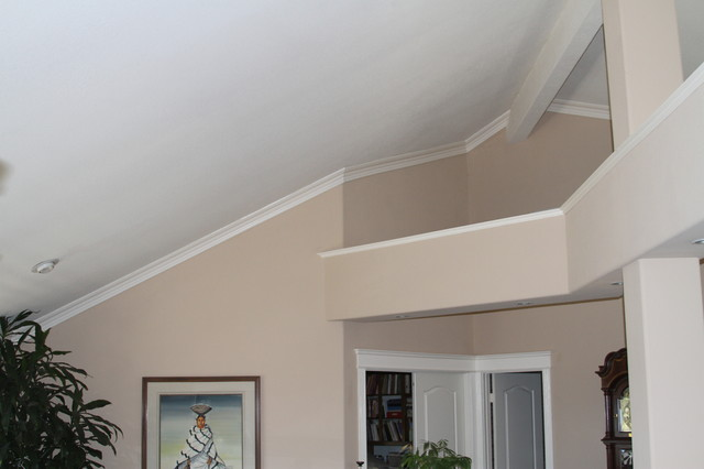 Moulding Installation Contemporary Bedroom San Diego