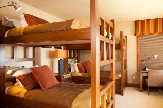 شیکترین  تخت خواب دو طبقه چوبی