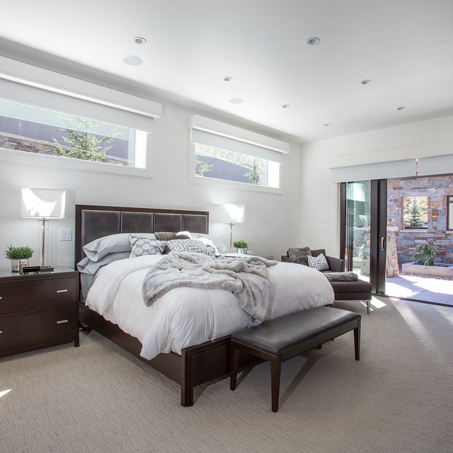 Mountain contemporary contemporary bedroom salt lake for Mountain modern bedroom