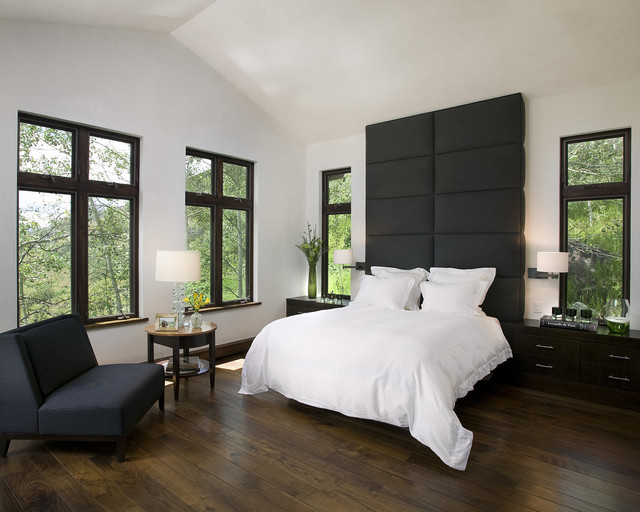 Mountain home bedroom contemporary bedroom san for Mountain modern bedroom