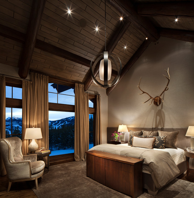 Mountain Home Remodel rustic-bedroom