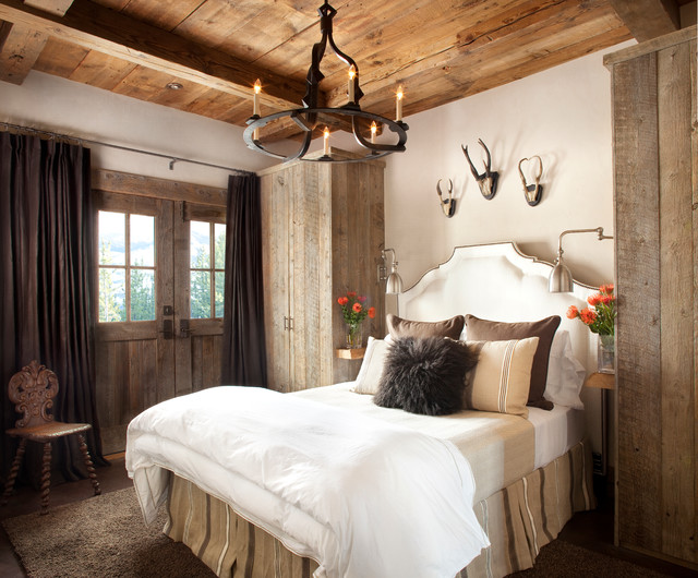 Mountain ski lodge for Rustic bedroom designs