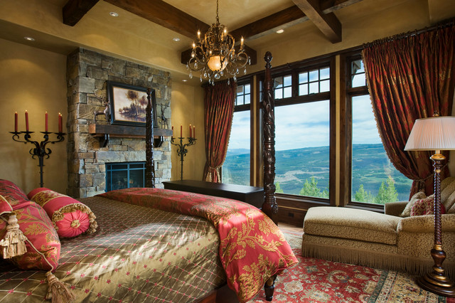 Mountain View Residence rustic-bedroom