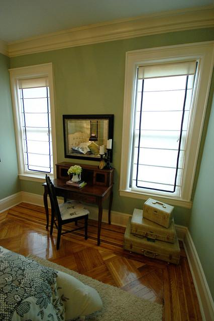 Mrs. Limestone- Guest Room eclectic-bedroom