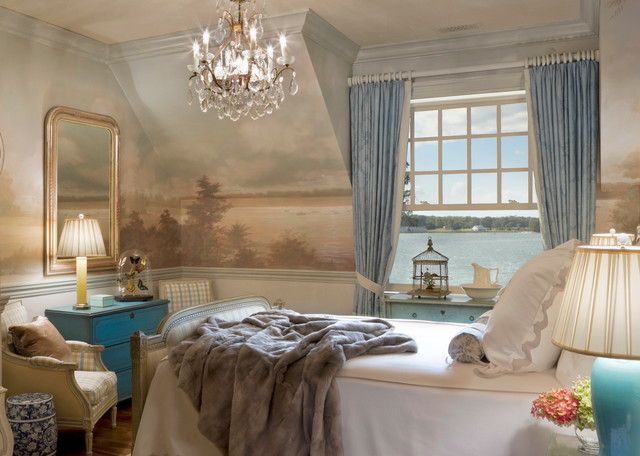 murals   traditional   bedroom   new york   by anne harris