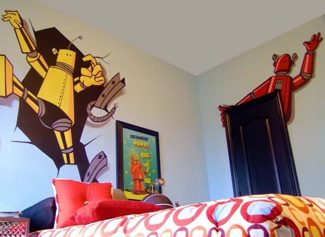Murals: Commercial & Residential eclectic-bedroom