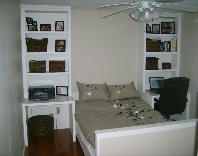 murphy bed bookshelves traditional bedroom boston by