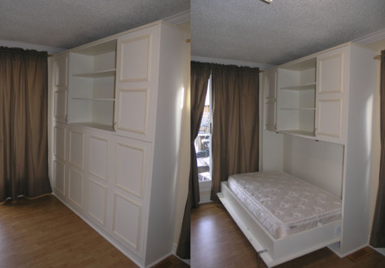 Murphy Bed With Cabinets Traditional Bedroom