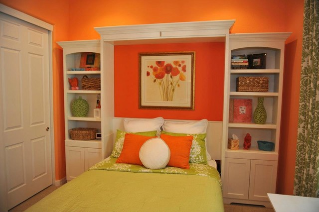 Murphy Wall Bed With Custom Side Cabinets Traditional
