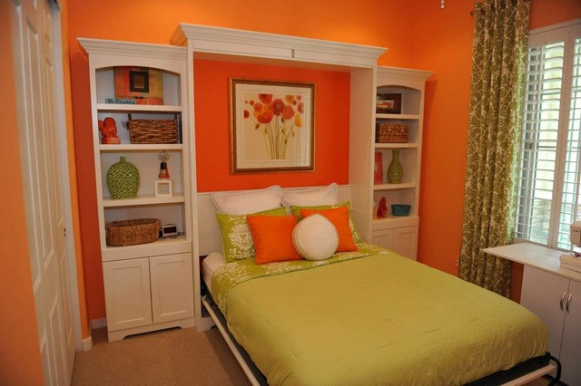 Murphy Wall Bed With Custom Side Cabinets - Traditional - Bedroom - phoenix - by Lift & Stor Beds
