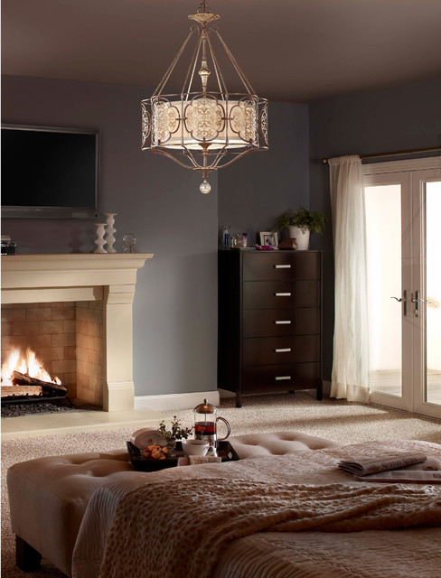 Murray Feiss F2603 4brb Obz Marcella British Bronze 4 Light Chandelier Mediterranean Bedroom