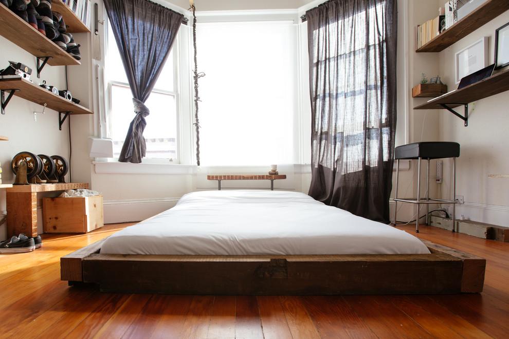 Eclectic bedroom in San Francisco.