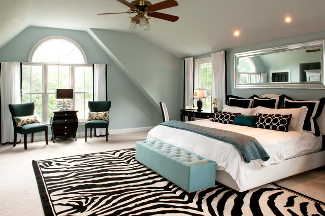 my houzz: a basic builder home gets the glam treatment - traditional