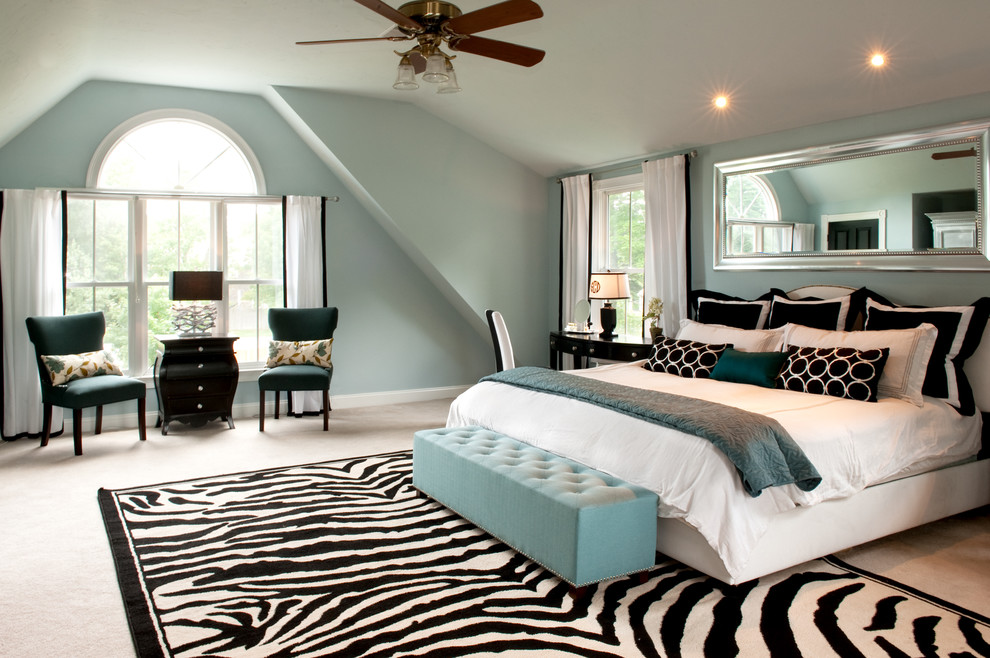 My Houzz A Basic Builder Home Gets The Glam Treatment Traditional Bedroom Boston By Mary Prince Photography