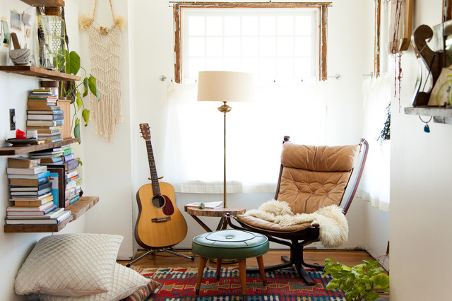 My Houzz: Bohemian Home Inspired By Organic 1970s Design Eclectic Bedroom