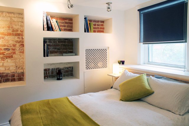 Studio Apartment Montreal my houzz: creative solutions transform a tricky basement studio