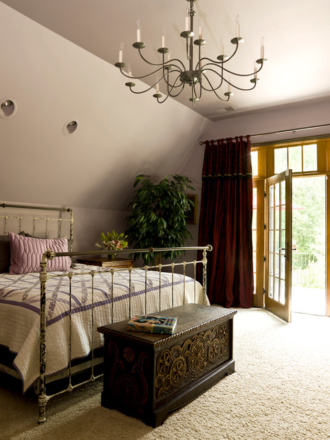 My Houzz: European Heritage Animates an Illinois Home traditional-bedroom