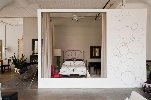 My Houzz: International Meets Industrial in a Brooklyn Loft industrial-bedroom