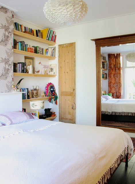 The home of Romy and Ilya eclectic-bedroom