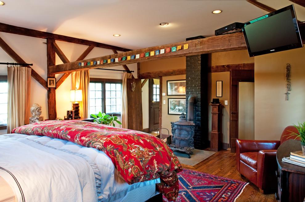 My Houzz Loving Efforts Restore A 1787 Farmhouse Farmhouse Bedroom Boston By Mary Prince Photography
