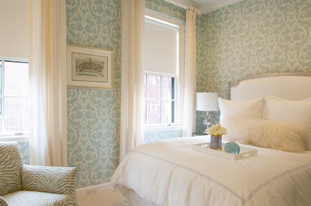 Metropolitan Chic in Boston's Tony Back Bay contemporary-bedroom