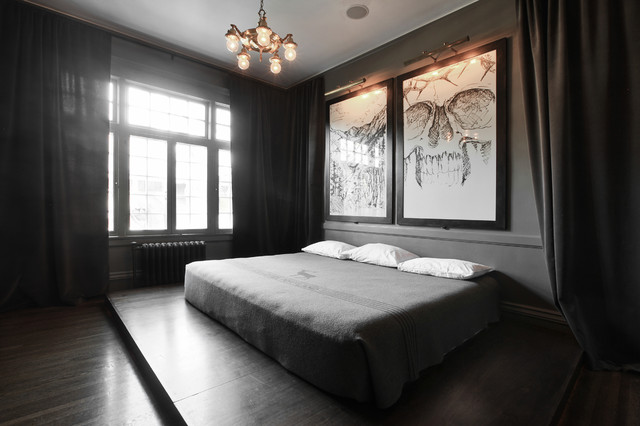 My Houzz: Modern and Moody Nostalgia in Salt Lake City contemporary-bedroom