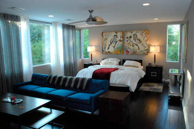 contemporary bedroom by Kara Mosher