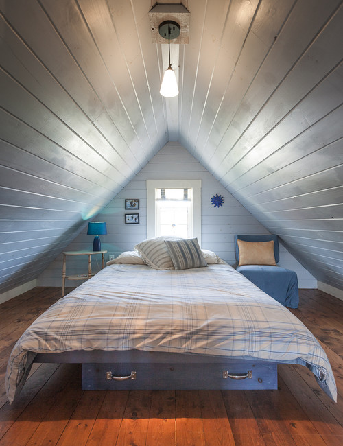 beach style bedroom Cozy Attic Conversions