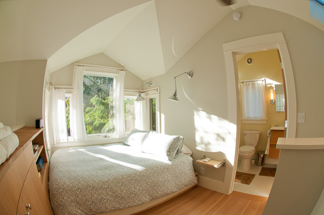 My Houzz: Tiny and Tinier; big space in a small house and smaller ADU. contemporary bedroom