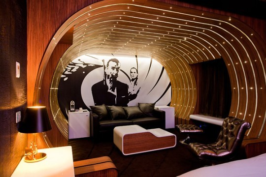 MY NAME IS BOND...JAMES BOND... eclectic bedroom