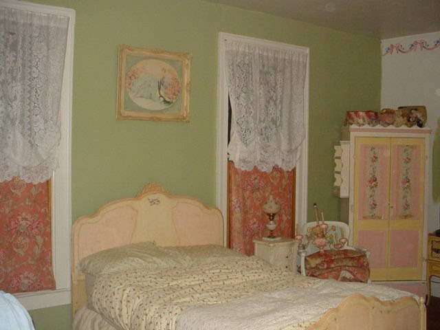 My painted bed and armoire traditional-bedroom