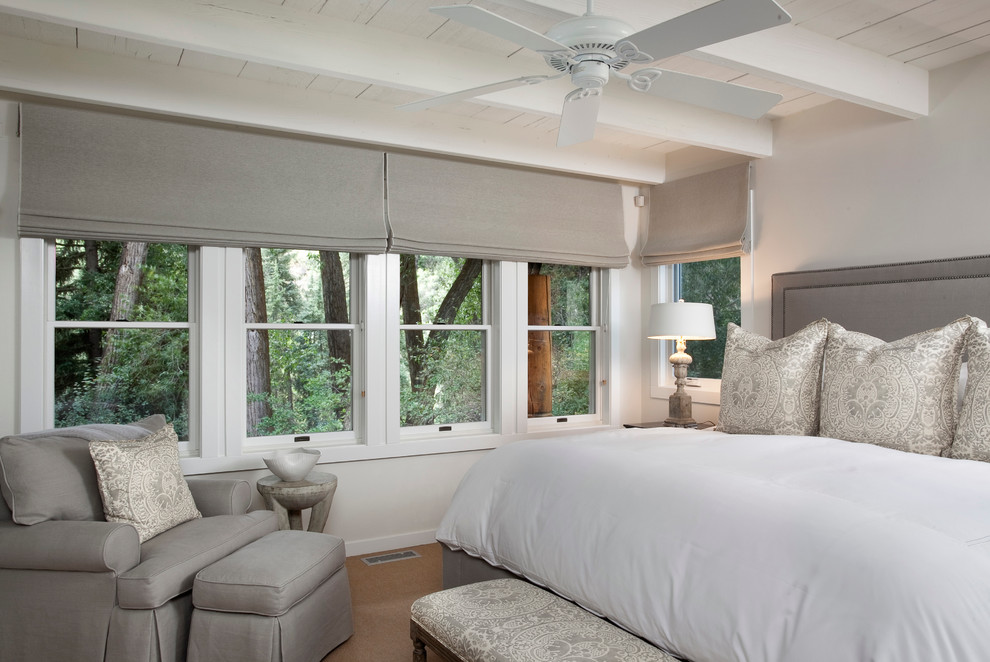 Bedroom - traditional bedroom idea in Denver with gray walls