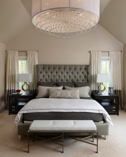 Napa Chic-Transitional Master Bedroom