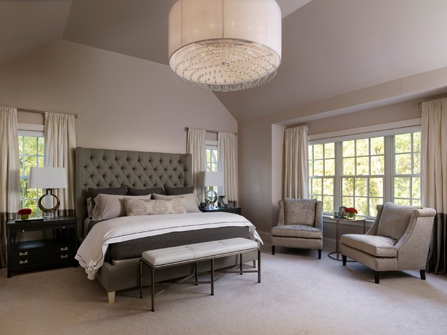 Napa chic transitional master bedroom transitional for Bedroom photos
