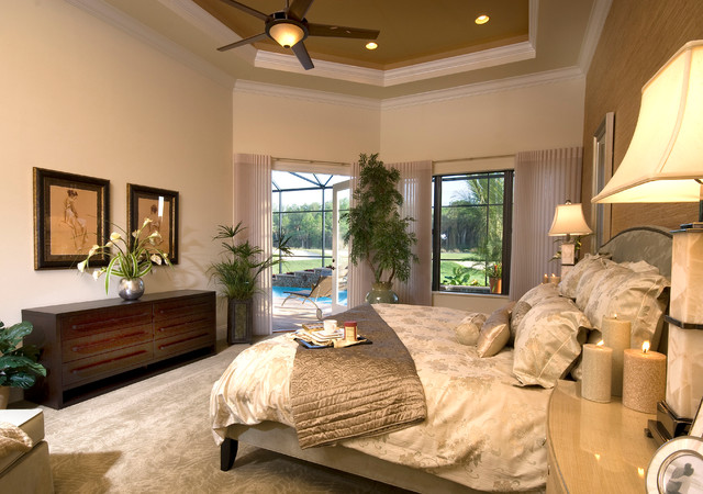Naples FL Twin Eagles Golf Community traditional-bedroom
