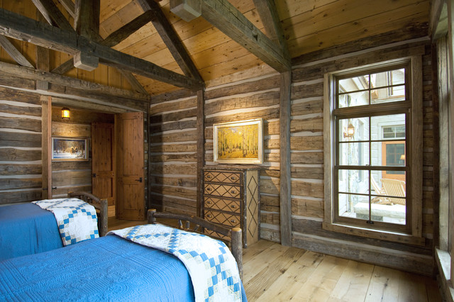 Habitat Cabin Beds : Natural habitat rustic bedroom
