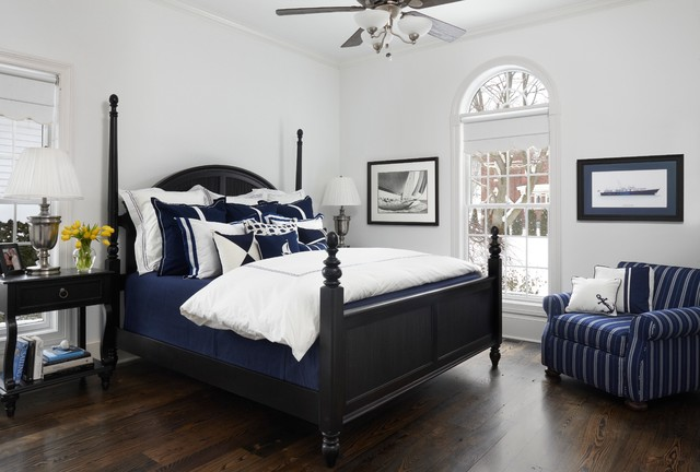 Nautical Navy Traditional Bedroom