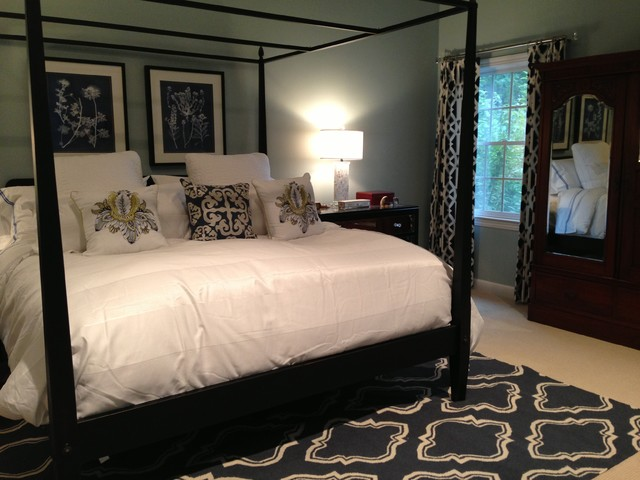 Navy seafoam master bedroom - Gorgeous pictures of slated blue bedroom design and decoration ...